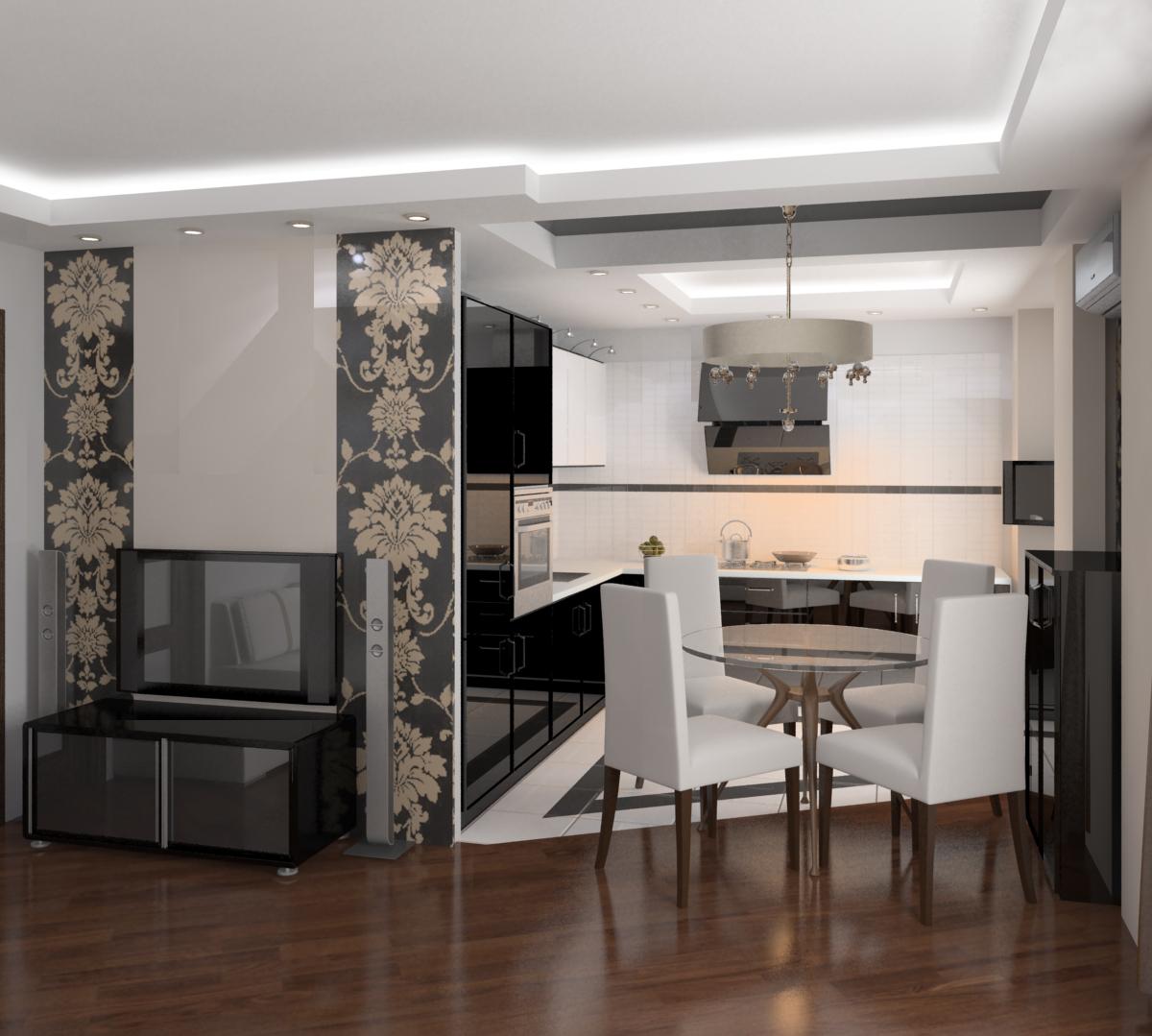 Кухня столовая гостиная в хрущевке дизайн