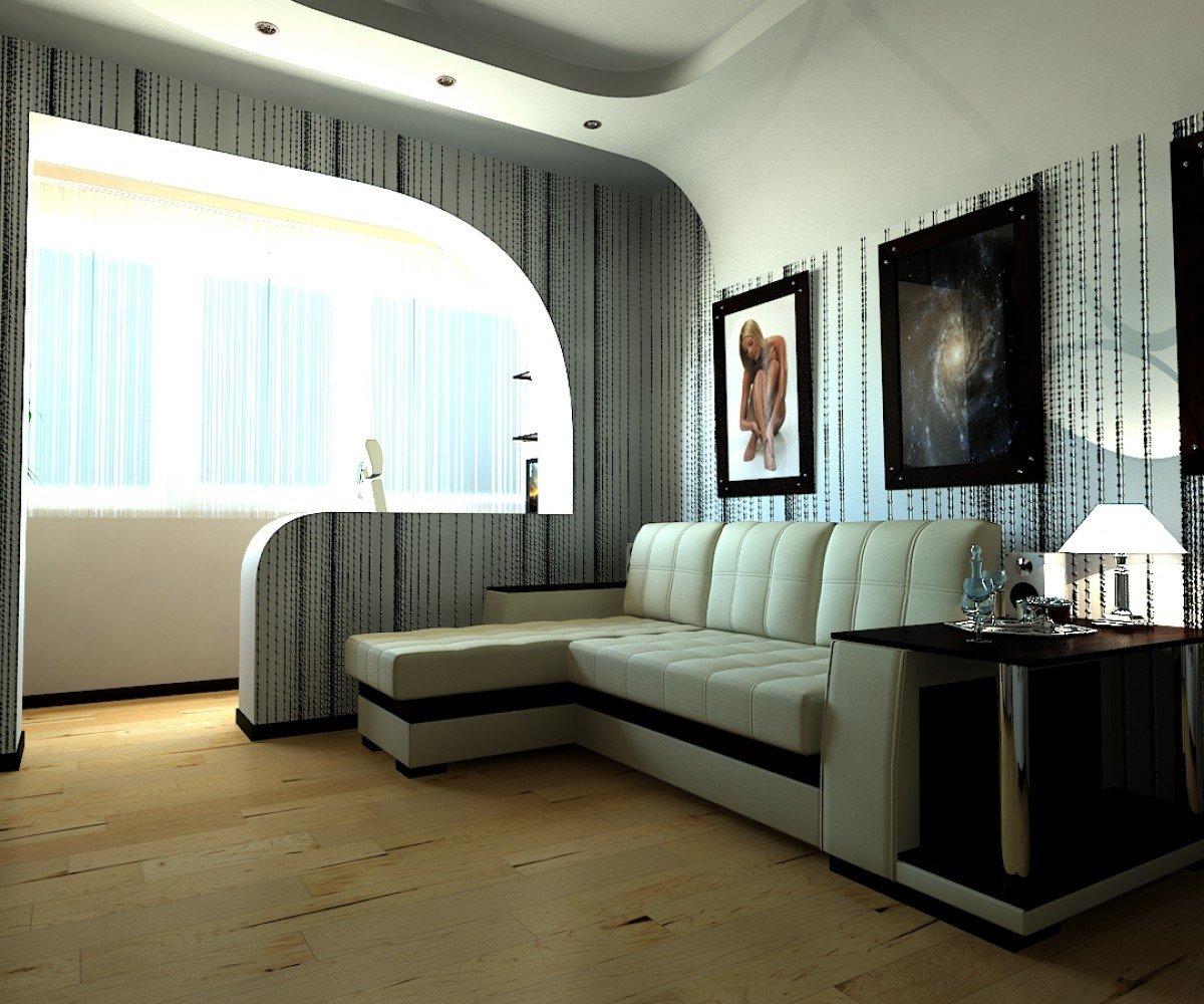 Интерьер комнаты с лоджией фото
