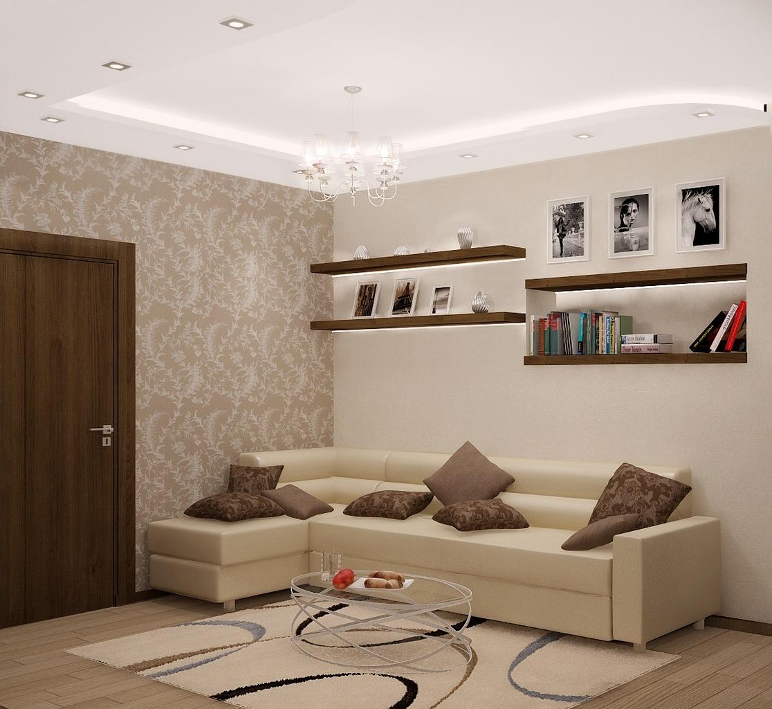 Фото маленького зала интерьер