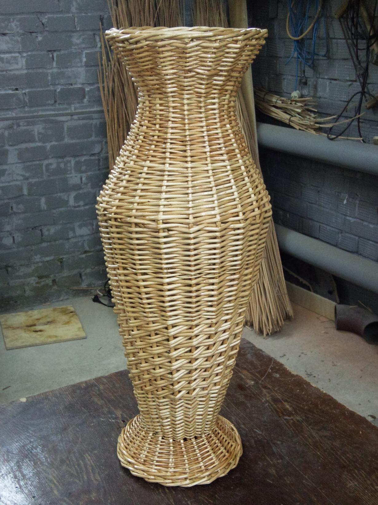 Напольная ваза из дерева своими руками фото