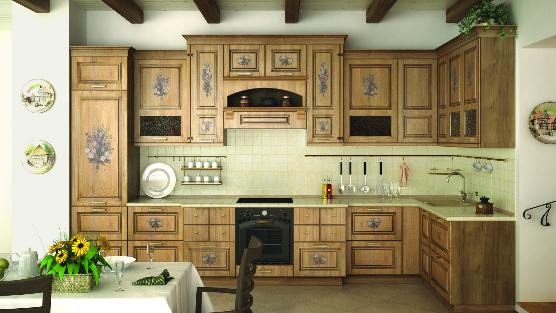 Декор кухонного гарнитура своими руками фото