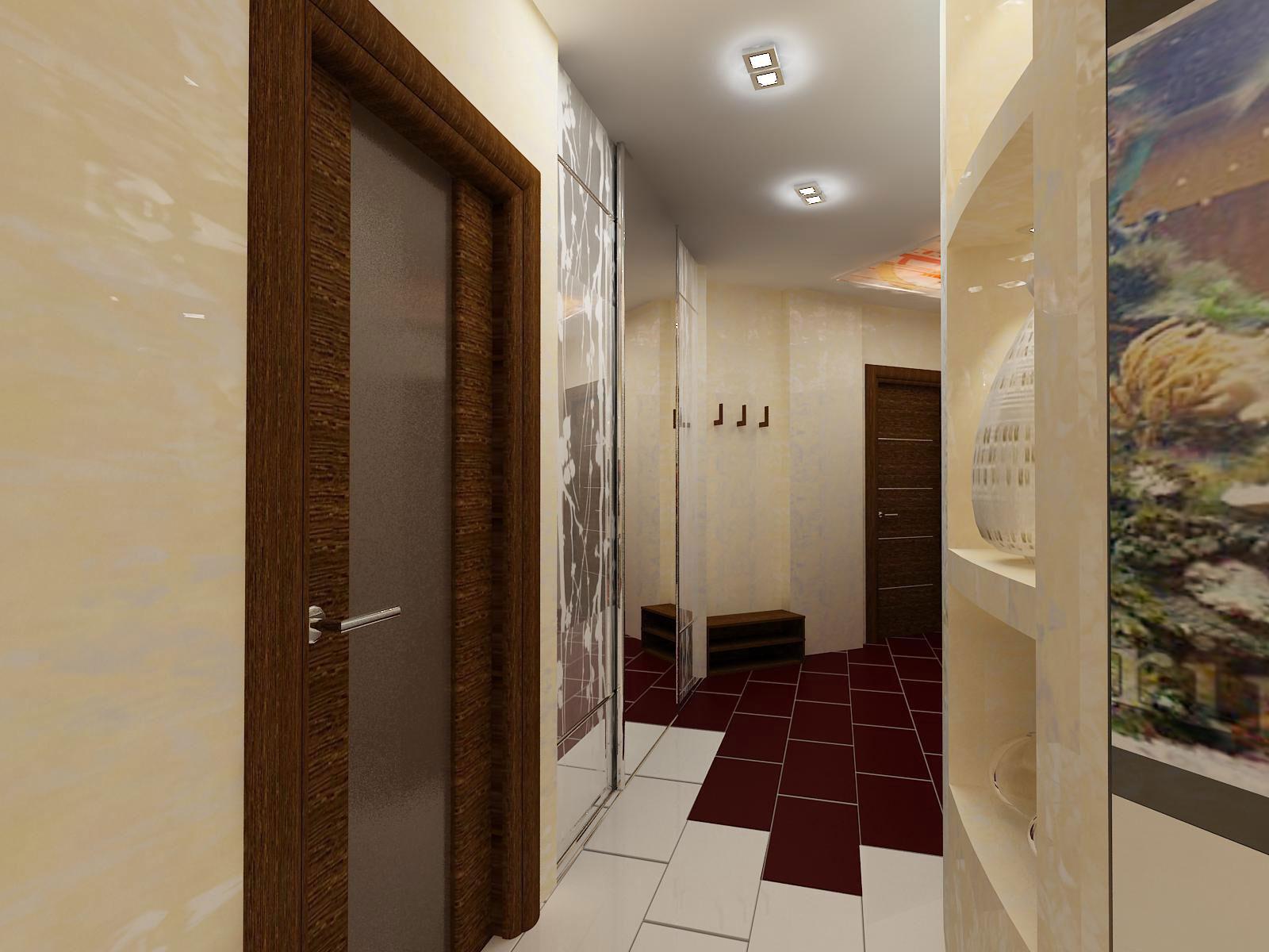 Узкий коридор в хрущевке дизайн фото в квартире
