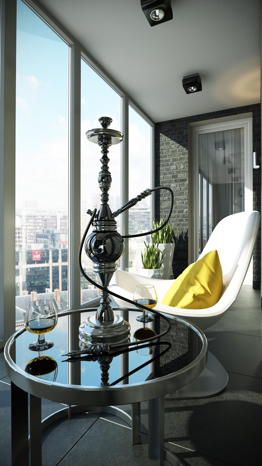 Дизайн лоджии на кухне с панорамным застеклением. - балконны.