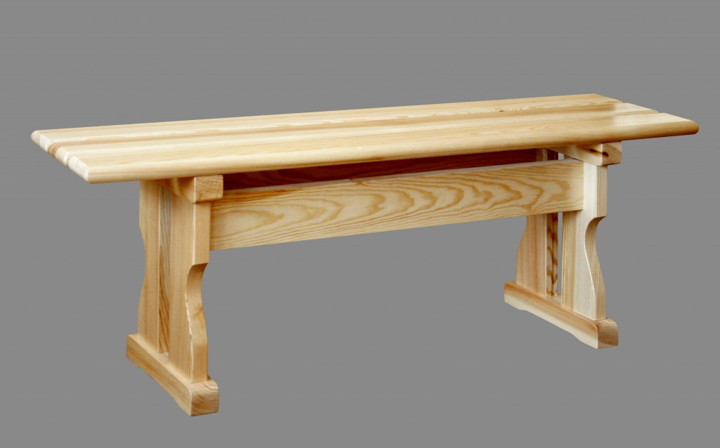 деревянная садовая скамья без спинки