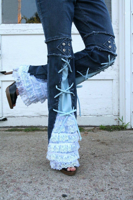 Переделываем старые джинсы в новые своими руками