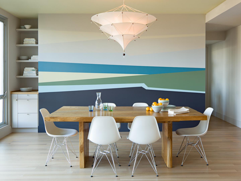 Дизайн с покраской стен