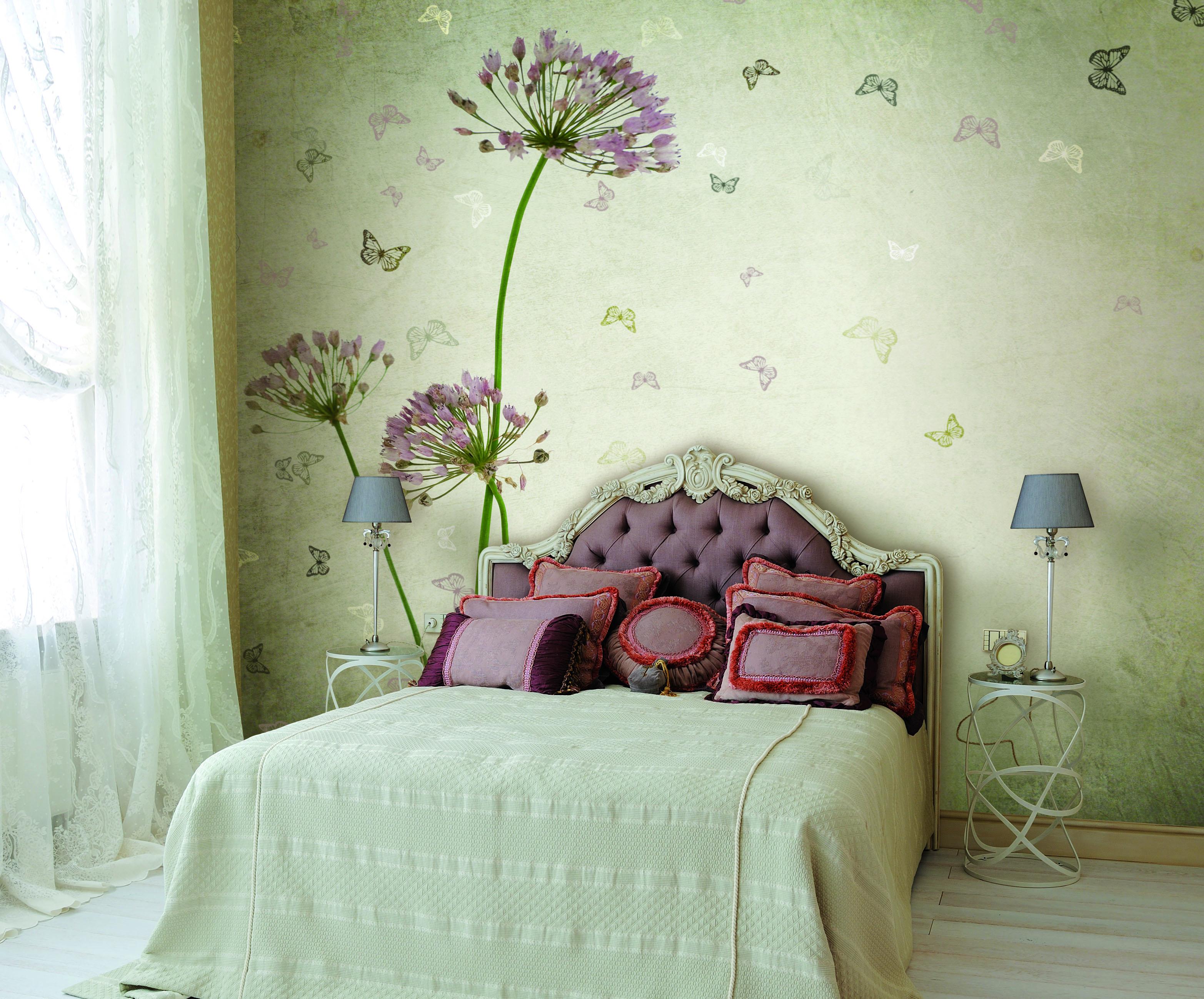 пано на стены в спальне фото