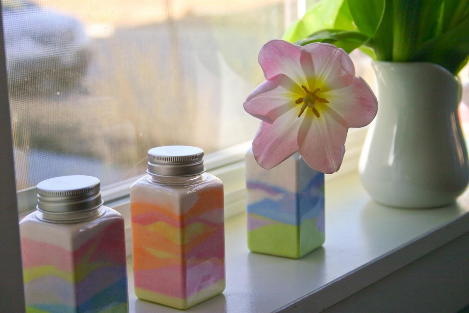 Цветной песок своими руками! DIY Декоративная бутылка 19
