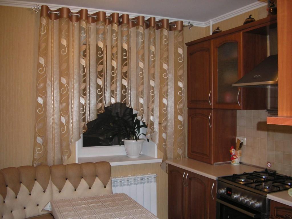 Пошив штор на кухню своими руками фото
