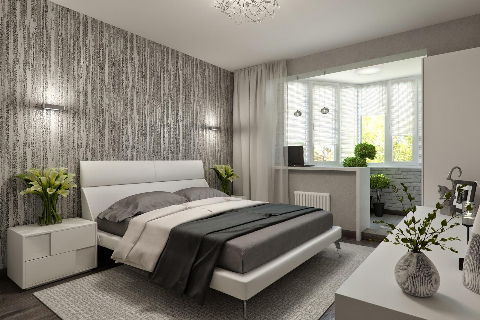 Дизайн спальни с балконом фото.