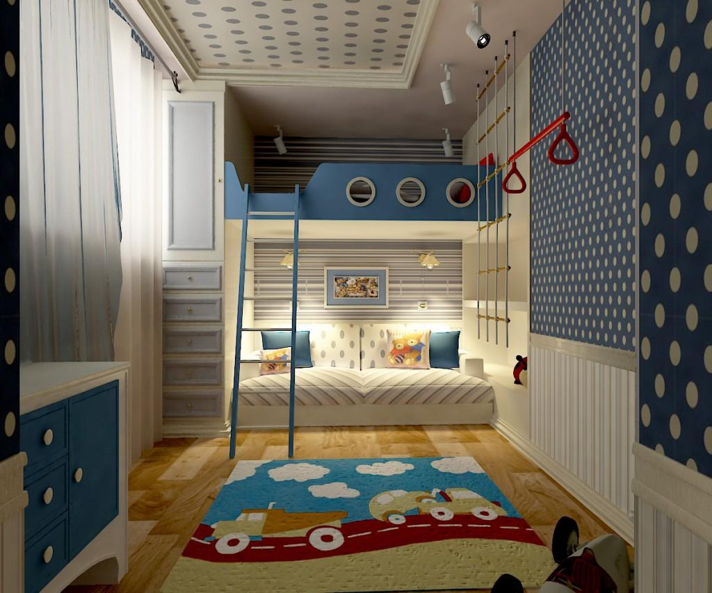 Интерьер детской комнаты для мальчика: от малыша до подростка (фото)