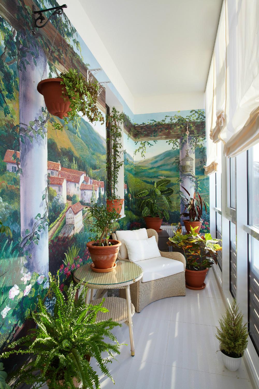 Дизайн оформление стен в зимнем саду