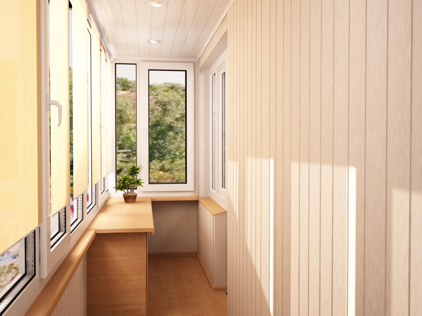 Дизайнерская отделка балкона москва.