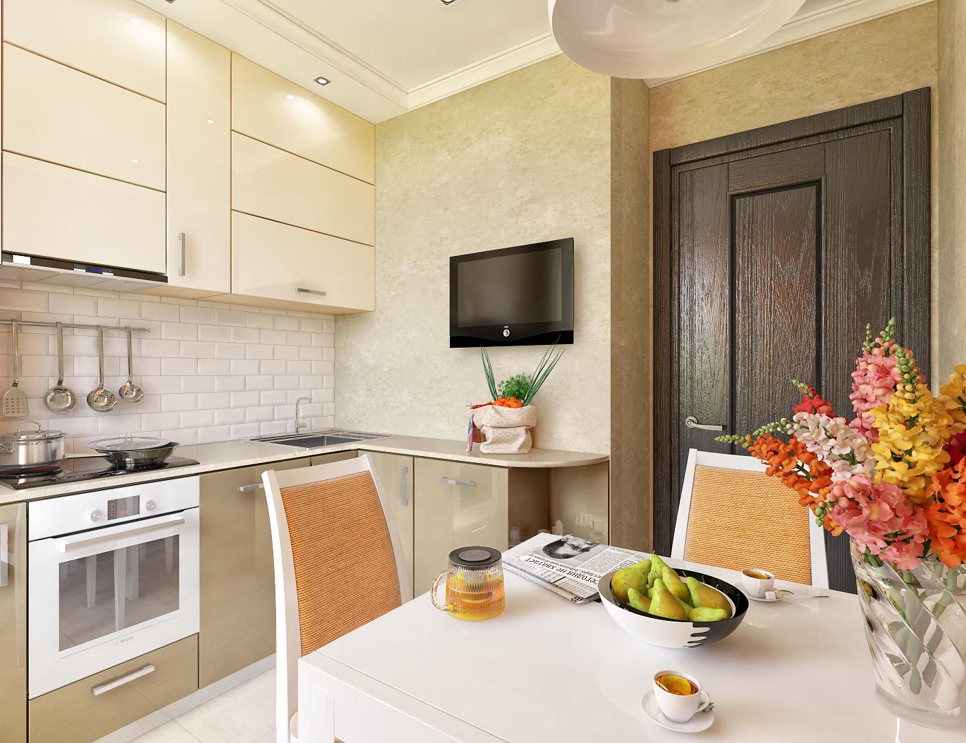 Интерьер кухни 10 кв м с диваном.