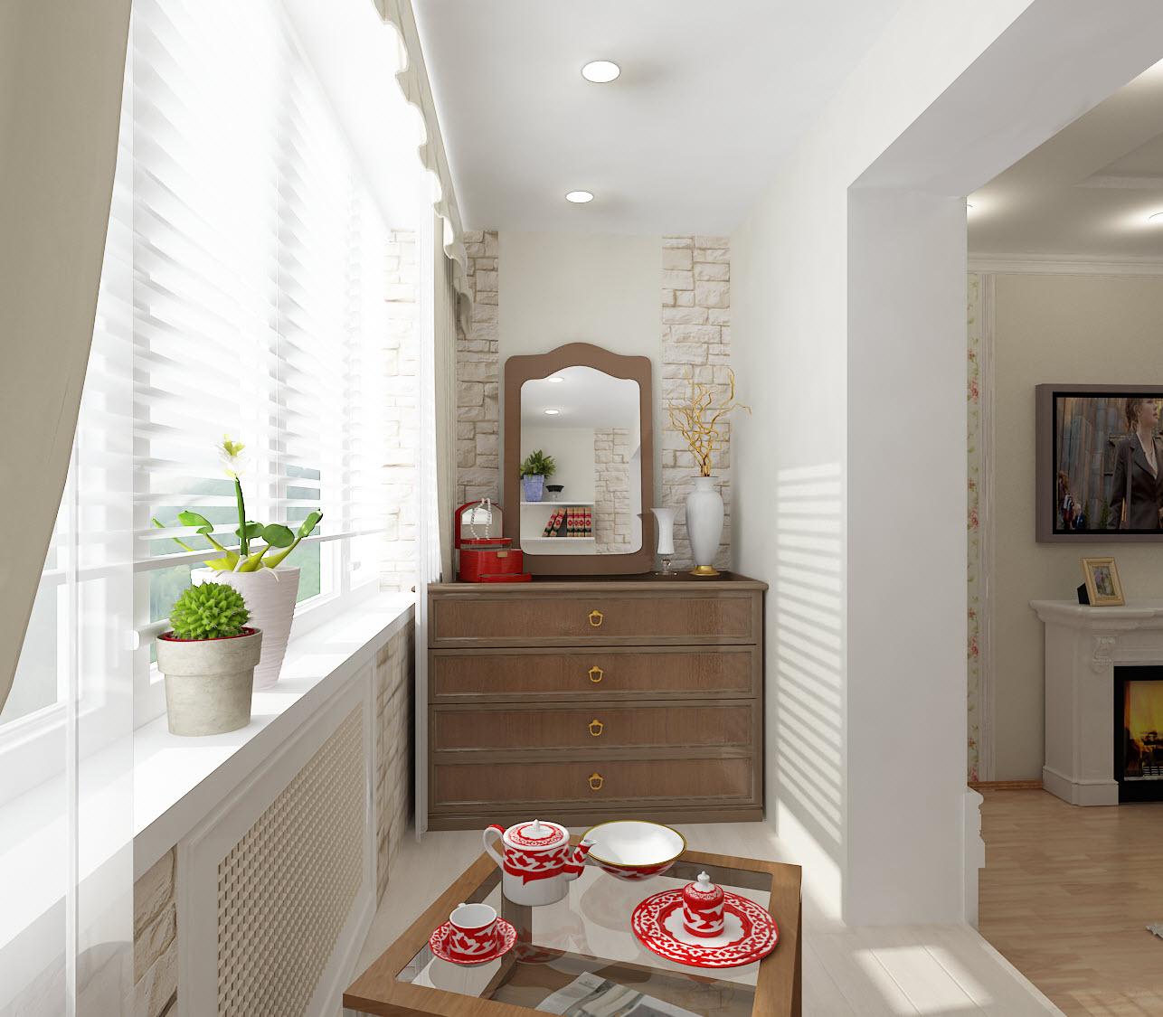 Дизайн маленького балкона Четыре стены - блог о интерьере и .