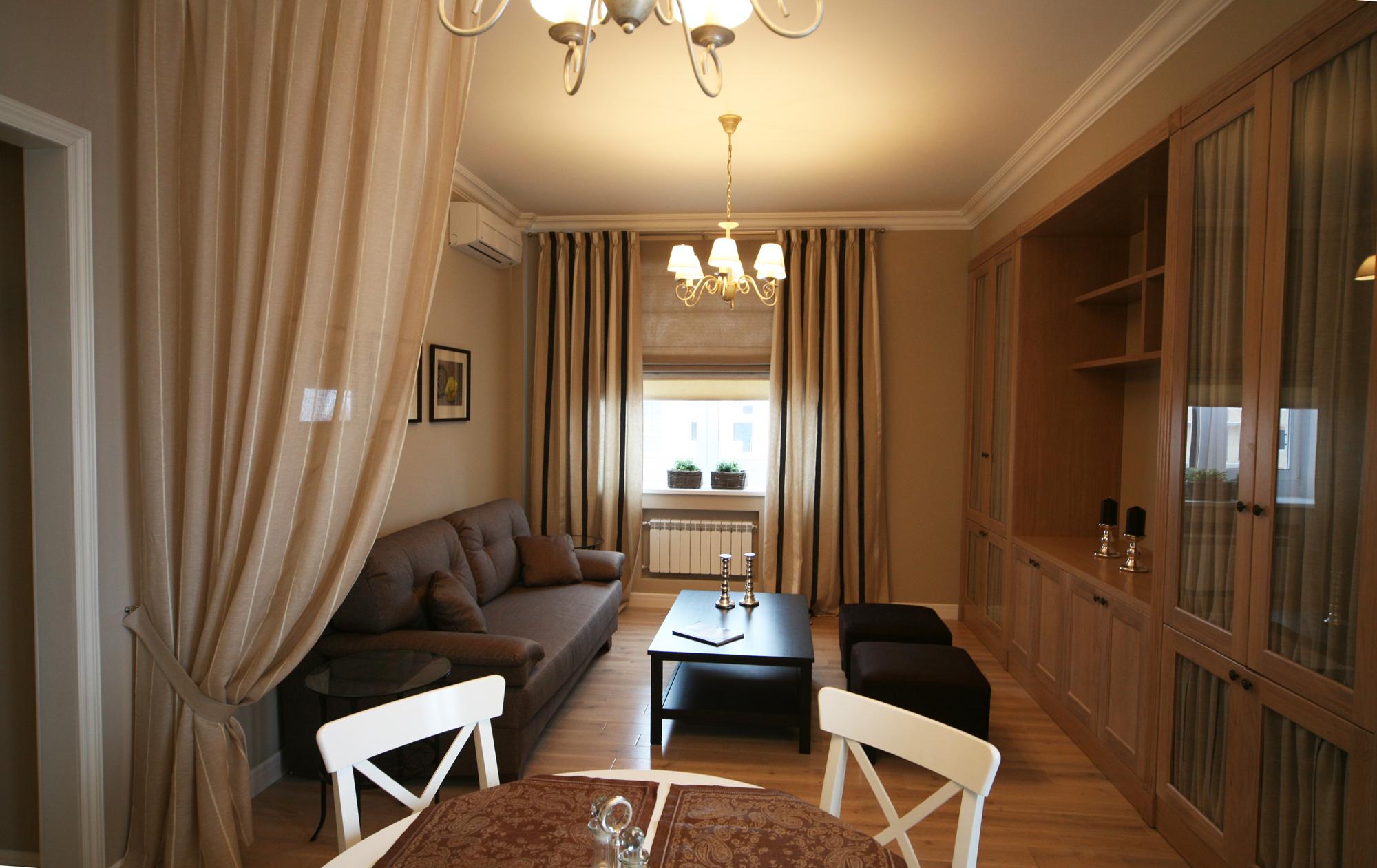 Дизайн гостиной в хрущевке: оформление, зонирование (45 фото.