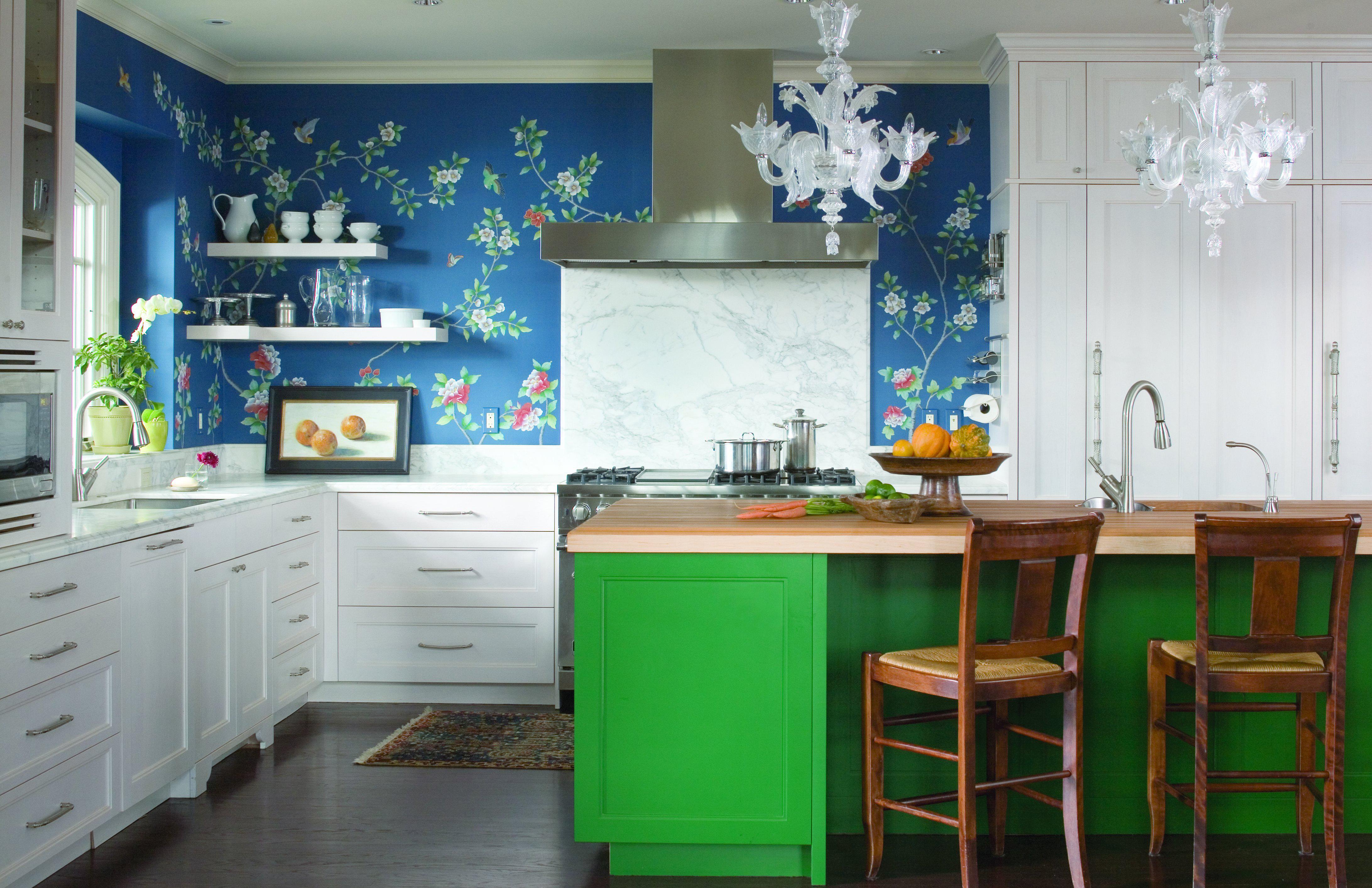 Чем закрасить темно-синий цвет на кухне