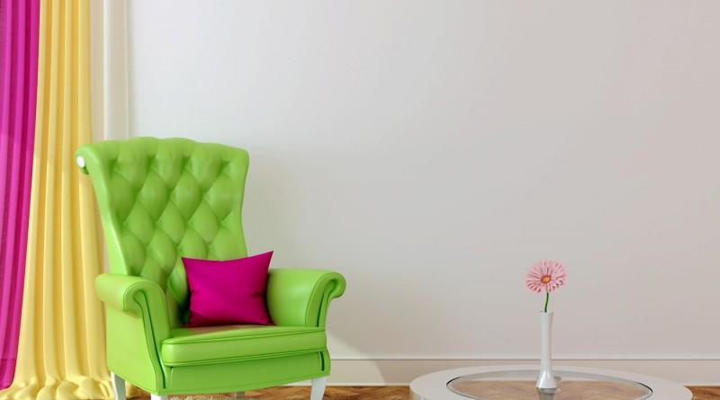 салатовый цвет в интерьере