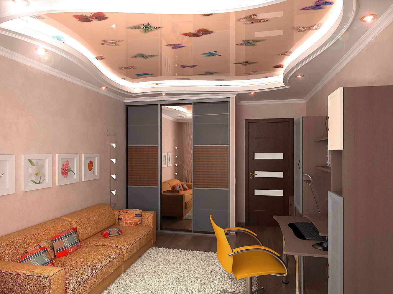 Дизайн и ремонта гостиной потолок в хрущевках