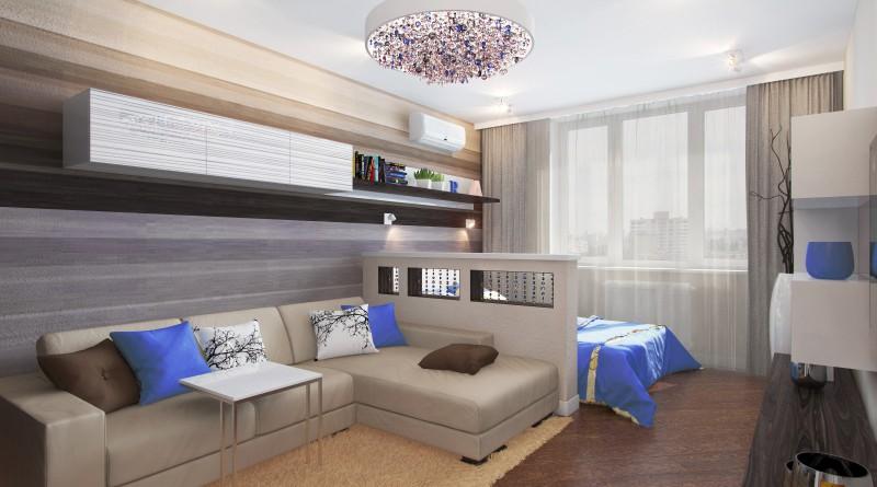 Как можно сделать гостиную спальню 831