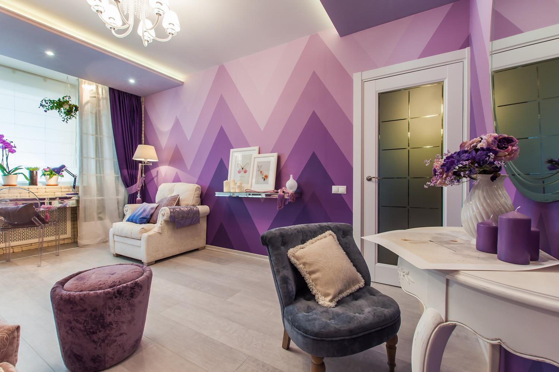 Фиолетовый интерьер фото