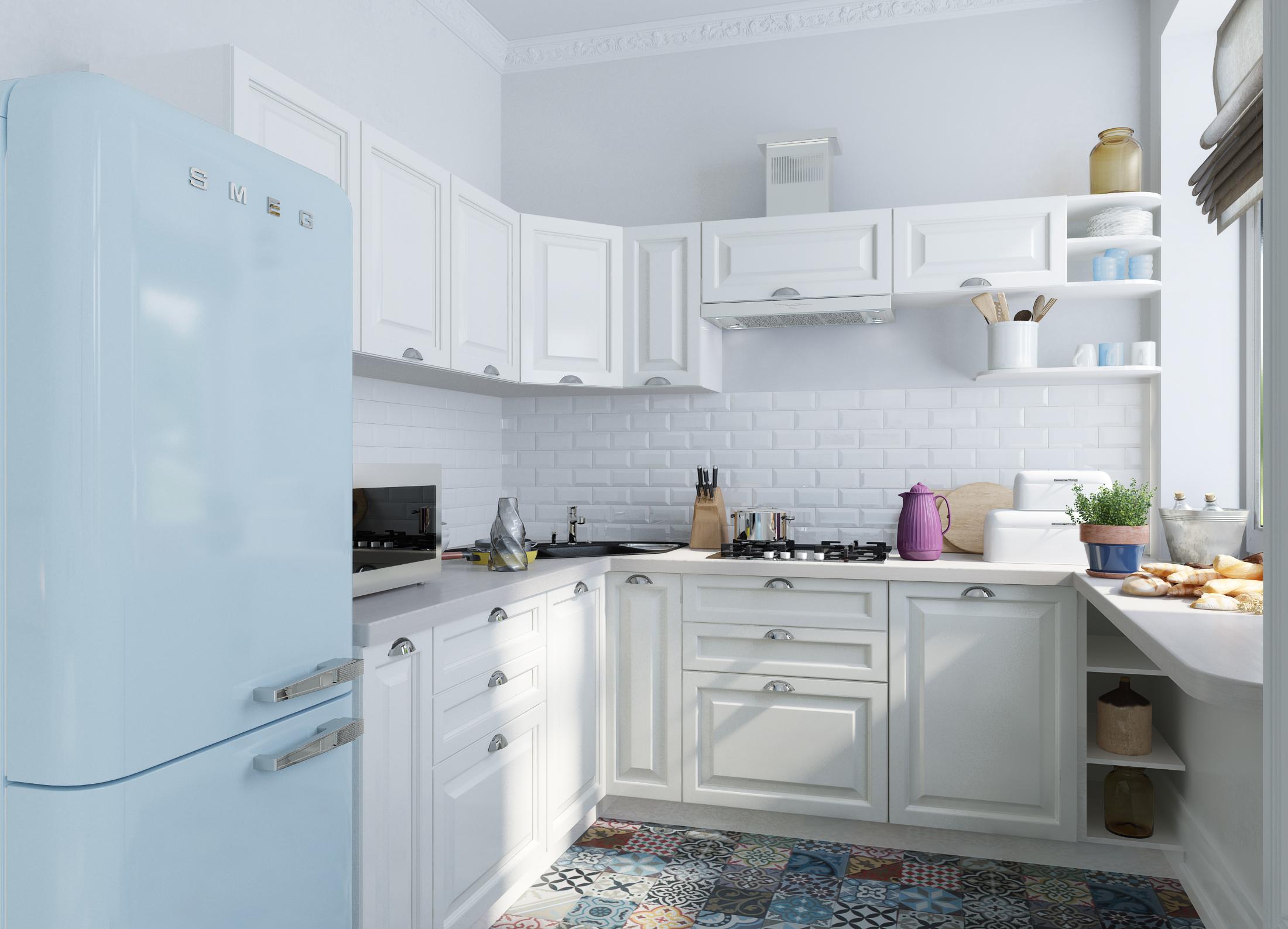 45 - Cocinas azules y blancas ...