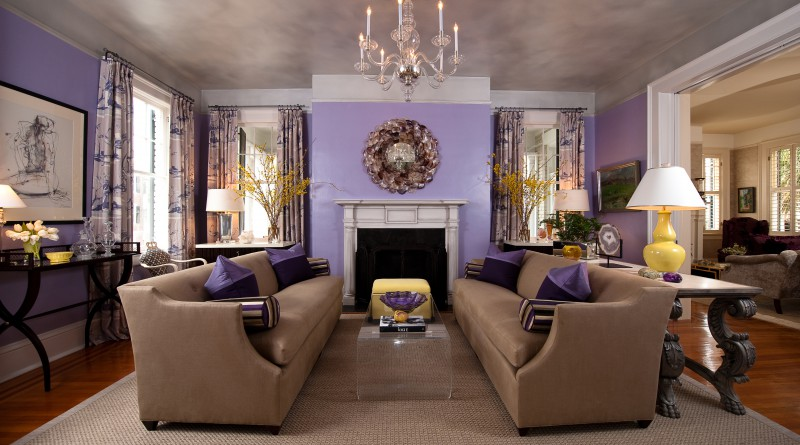 комната в лиловом цвете