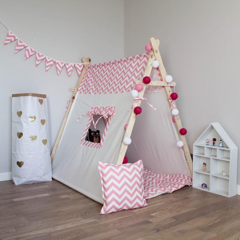 Детский домик-палатка своими руками 19