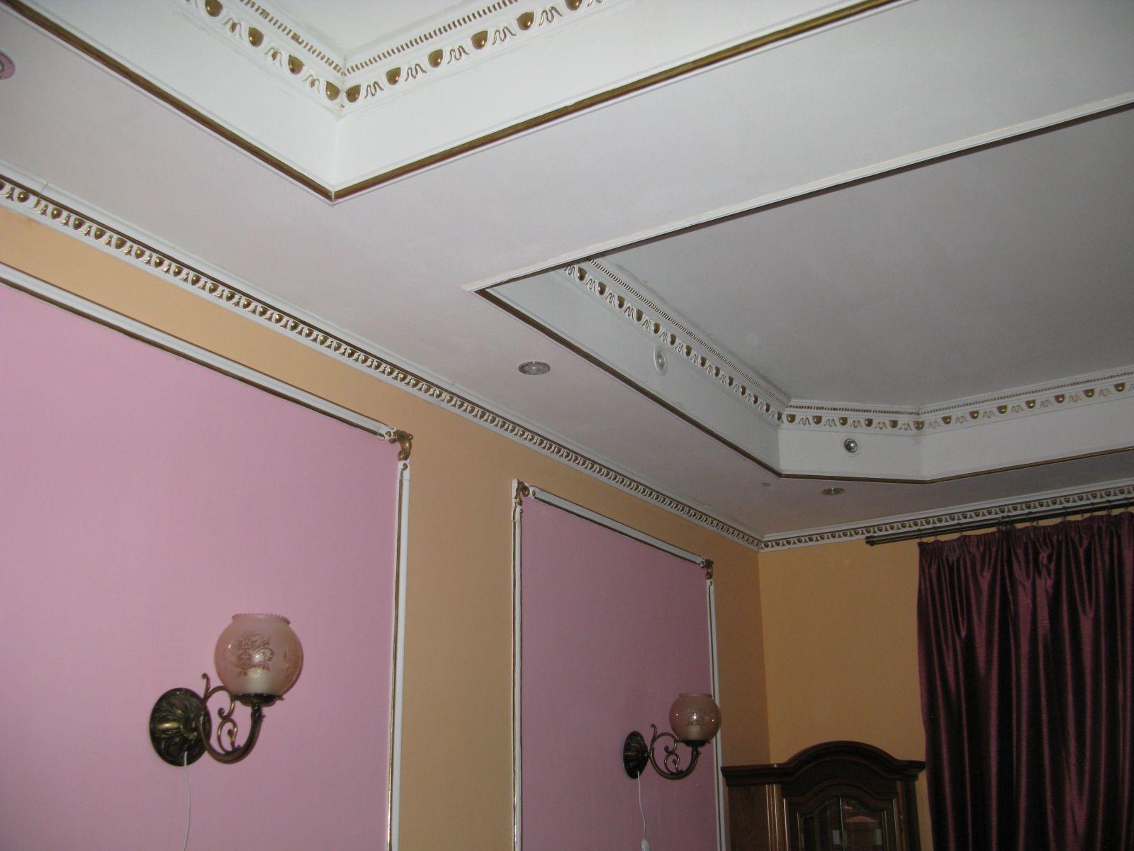 Покрасить потолок цвет желтый