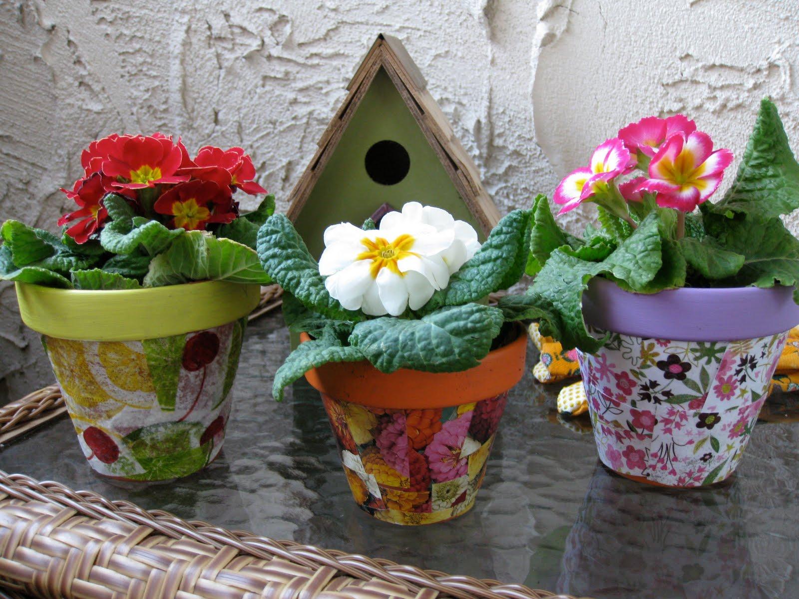 Горшки для цветов красивые своими руками фото 556