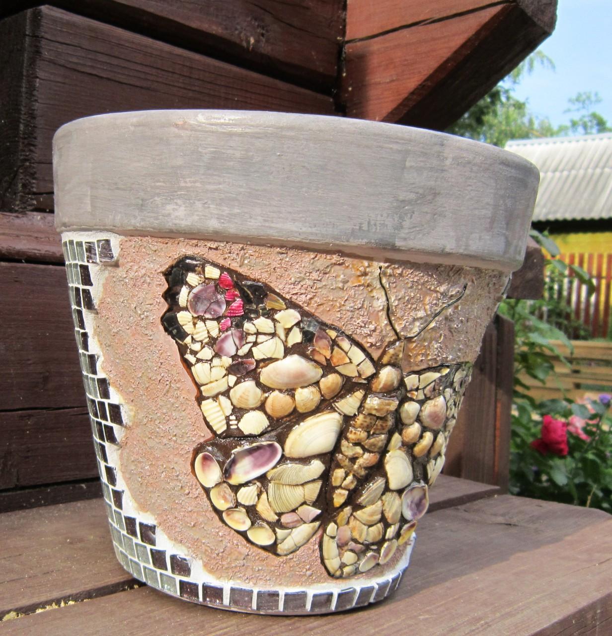 Декор горшков своими руками фото 700