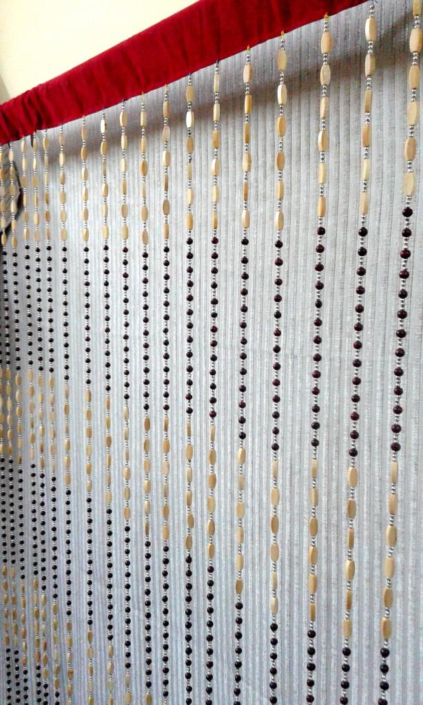 Как сделать шторы нитки своими руками 268
