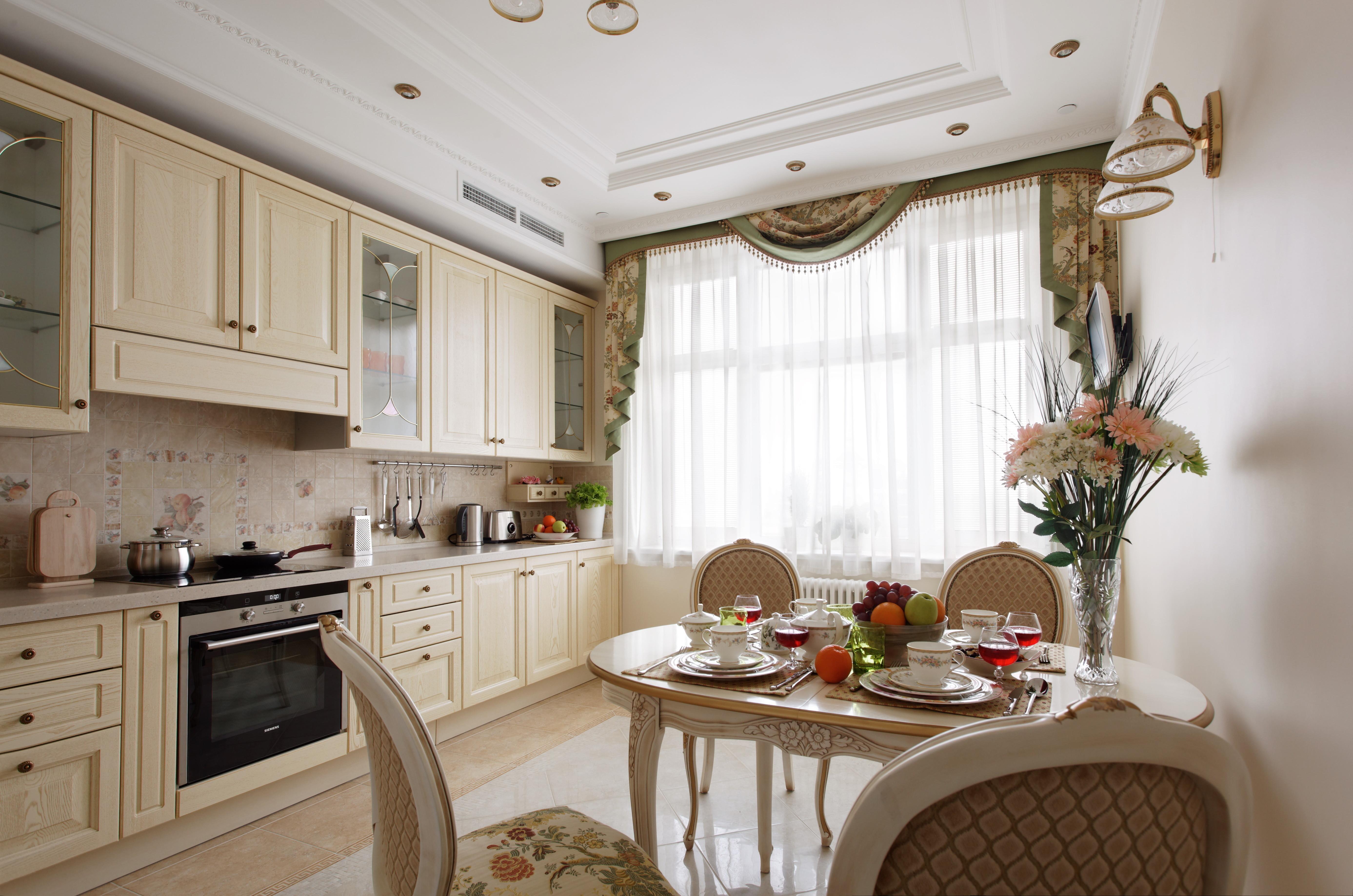 Классика на кухне в интерьере фото