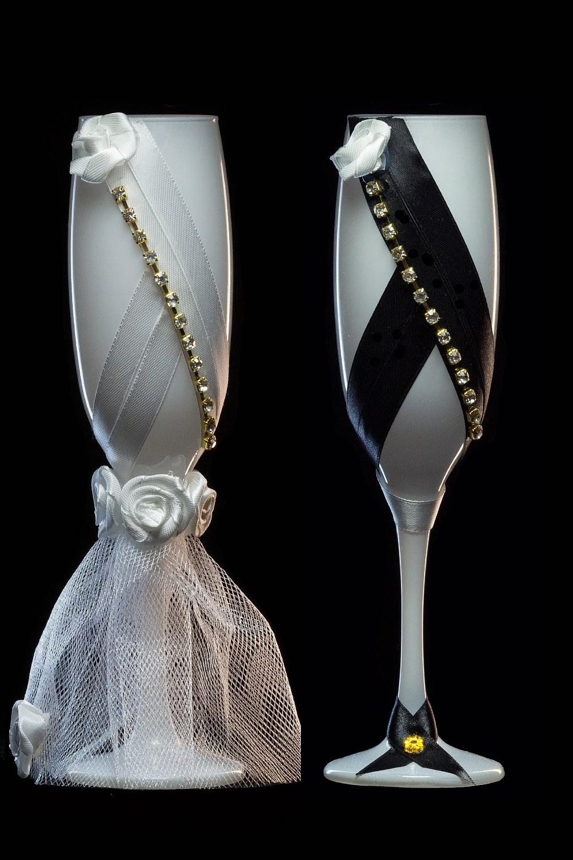Бокал жених и невеста своими руками пошагово фото 2