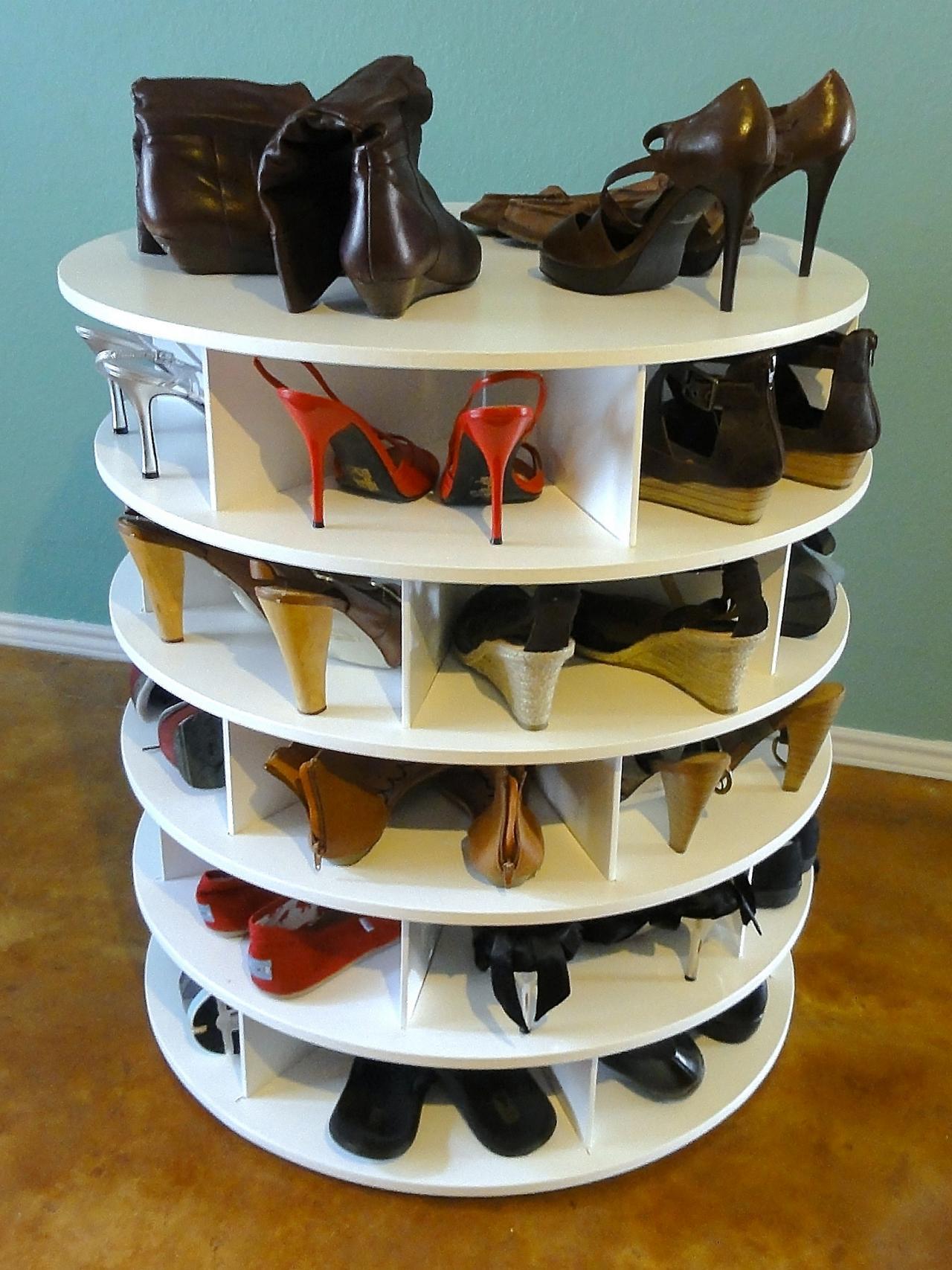 Вращающаяся тумба для обуви своими руками