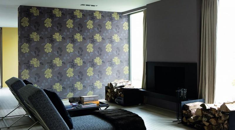 Подбор обоев для гостиной двух цветов фото