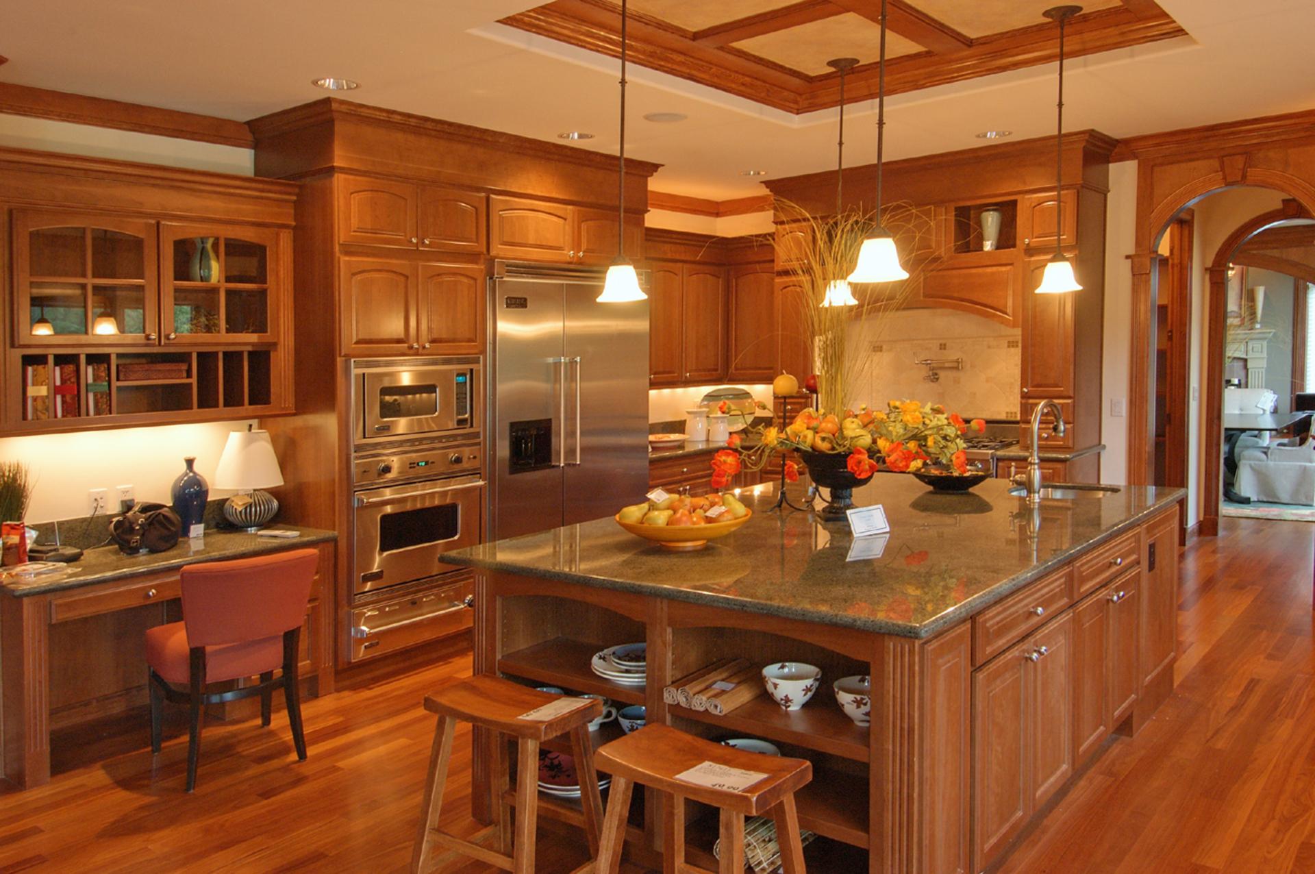 Красивые кухня дизайн фото в доме частном