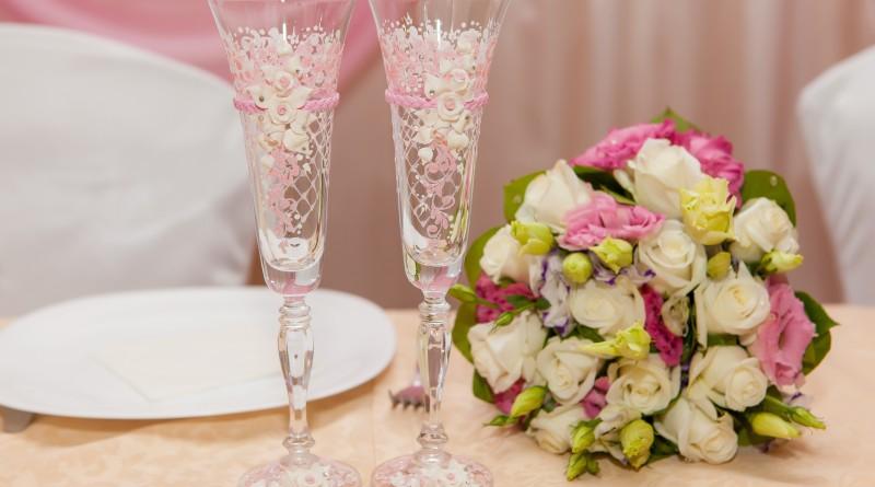 фужеры невесты жениха из лент мастер класс