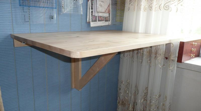 Очень удобный откидной столик - самостоятельное изготовление.