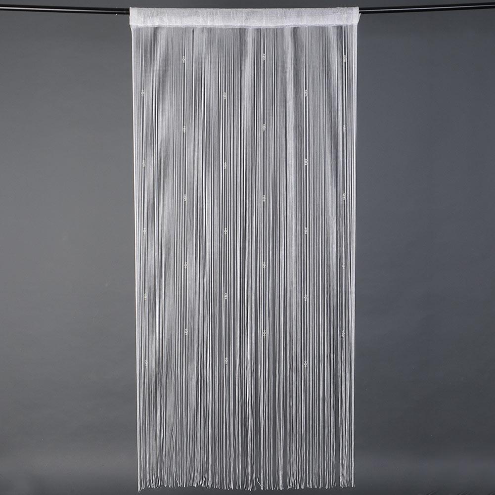 шторы из ниток своими руками