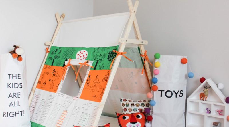 Детская палатка из подручных материалов