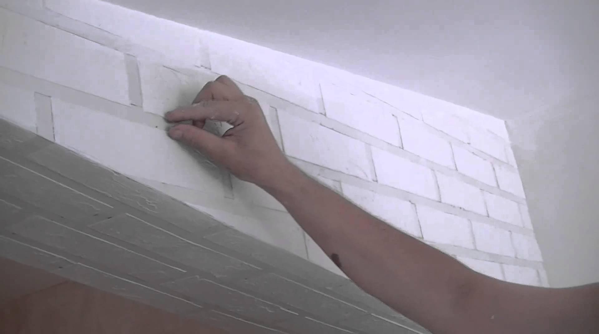 Кирпичная стена своими руками фото