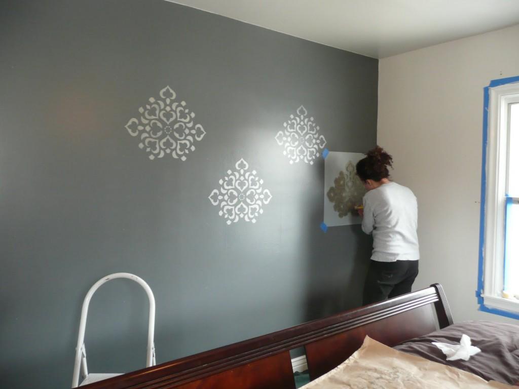 трафарет бабочки на стену обои