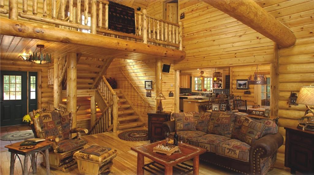 гостиная в стиле кантри