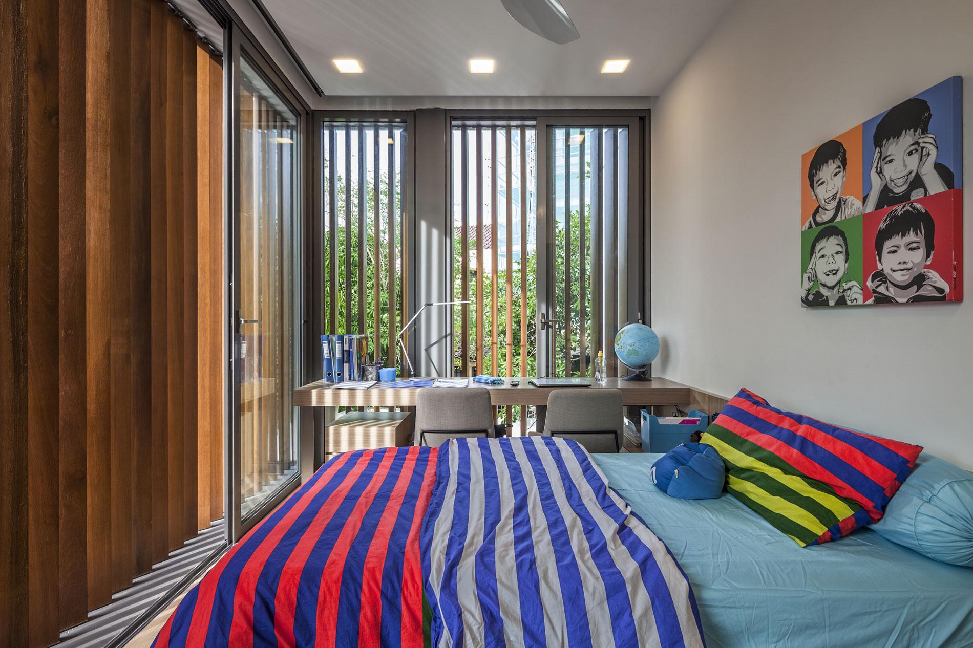 Интерьер для полосатой комнаты.