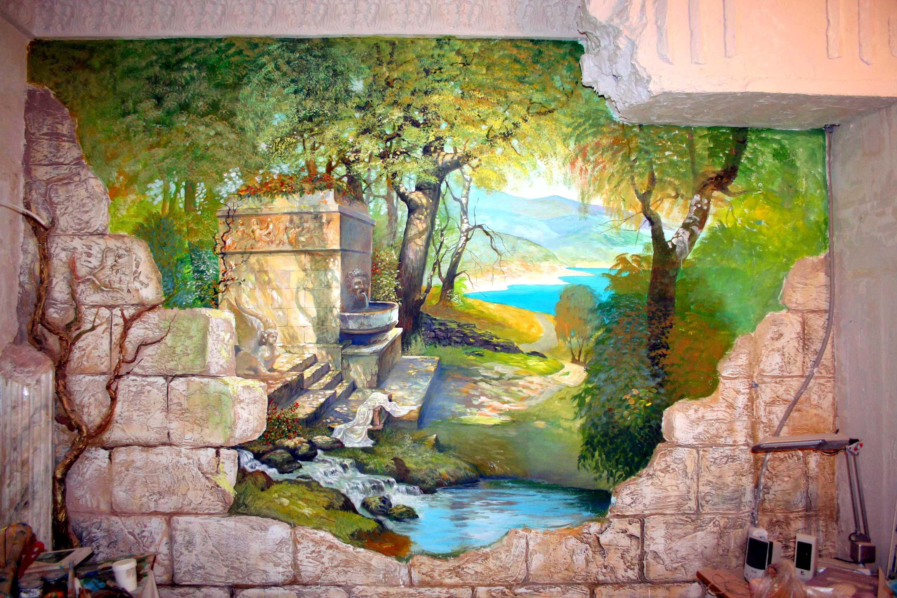 Требуется роспись стены