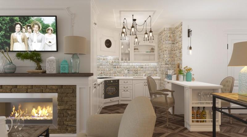 Кухня гостиная в стиле кантри: как правильно оформить интерьер