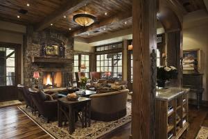 Оформлении гостиной и кухни в стиле кантри: правила и рекомендации