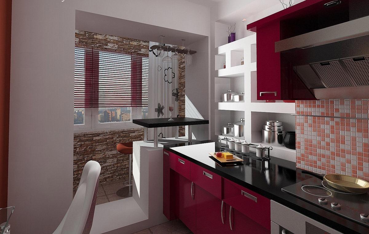 Дизайн кухни в квартире с балконом дизайн кухни - фото, опис.