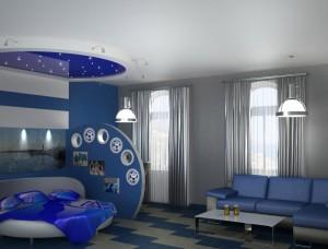 синяя гостинная